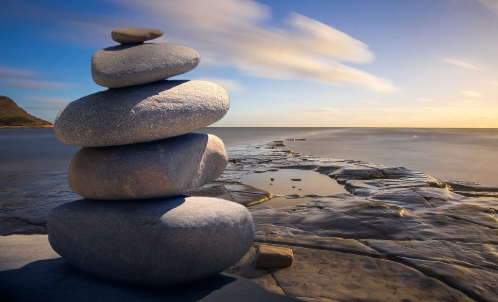 Balanced Stones Living a Mindful Life