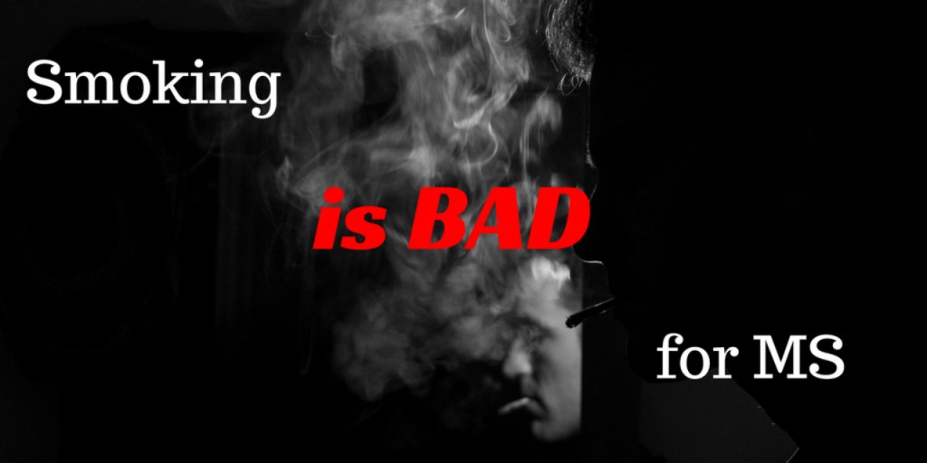Cigarette Smoke billowing around health warning for MS the smoking implications