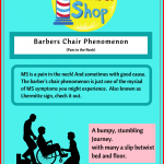 Lhermite sign barbers chair phenomenon ms symptom